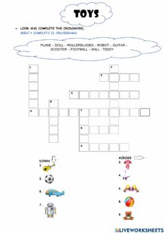 Interactive worksheet The Toys (4)