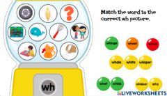 Interactive worksheet Wh picture match 2