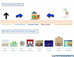 Interactive worksheet Demander son chemin