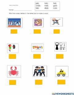 Interactive worksheet Ab family