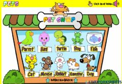 Ficha interactiva Pet Shop