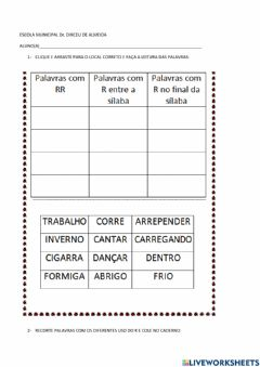 Interactive worksheet Uso do r