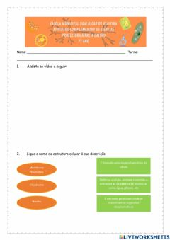 Interactive worksheet Citologia