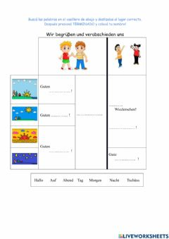 Interactive worksheet Hallo