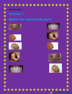 Interactive worksheet Match the same body parts