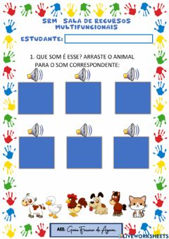 Interactive worksheet Animais