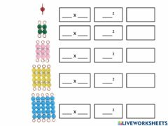 Interactive worksheet Notation of Squares