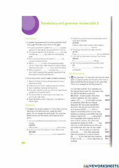 Interactive worksheet Revision unit 5 and 6