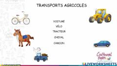 Interactive worksheet Transports agricoles