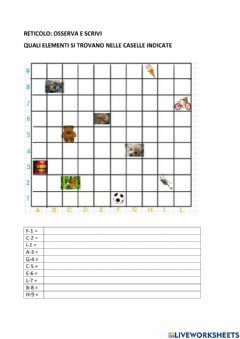 Interactive worksheet Reticolo 3