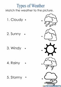 Interactive worksheet Types of Weather2