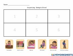Interactive worksheet SEQUENCING (6-steps)