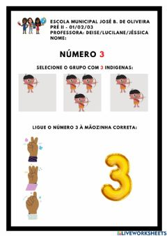 Interactive worksheet Numero 3 - indigena