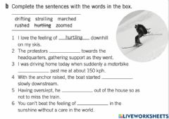Ficha interactiva Verbs of movement 1