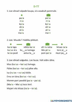 Interactive worksheet Sulghäälik D-TT