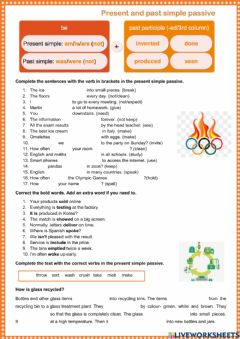 Interactive worksheet Passive: present and past simple