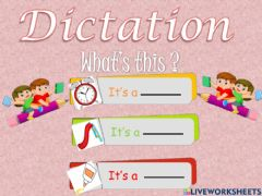 Ficha interactiva Dictation