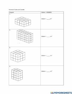 Interactive worksheet Year 5 Tr 3 Week 1- Volume of cubes and cuboids