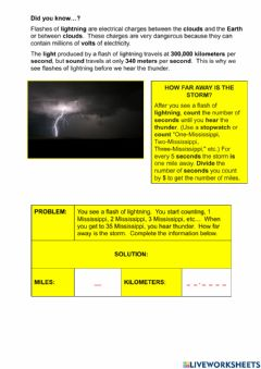 Interactive worksheet Storm challenge
