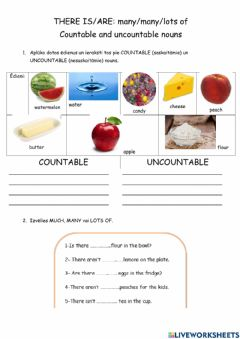 Interactive worksheet Much-many-lots of