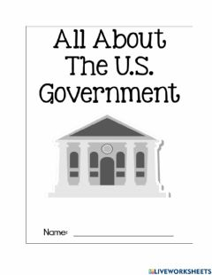 Interactive worksheet The three branches of government