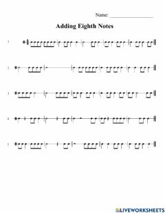 Ficha interactiva Counting Eighth Notes