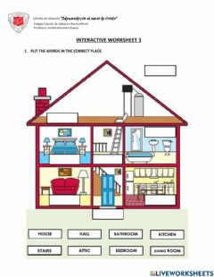 Interactive worksheet PARTS OF THE HOUSE: Interactive worksheet 3