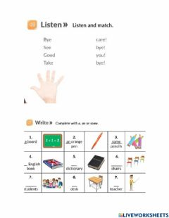 Interactive worksheet What do you do?