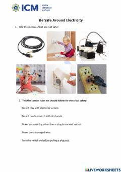 Ficha interactiva How to use the electrical appliance safely