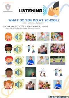 Interactive worksheet Classroom-school activities