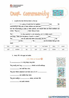Interactive worksheet Unit 4 - Our community