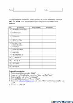 Interactive worksheet Lkpd
