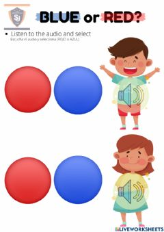 Interactive worksheet BLUE and RED