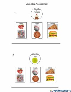 Interactive worksheet Main Idea and Details, check answer