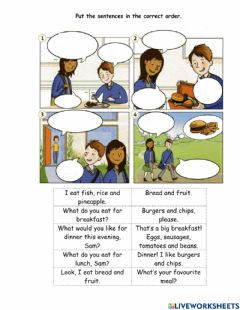 Interactive worksheet Talking about meals