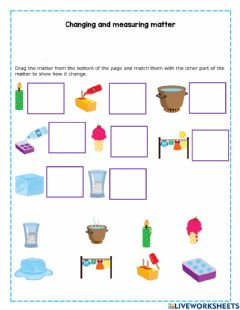 Interactive worksheet Changing matter and measuring tools