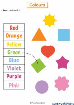 Interactive worksheet Colori in inglese