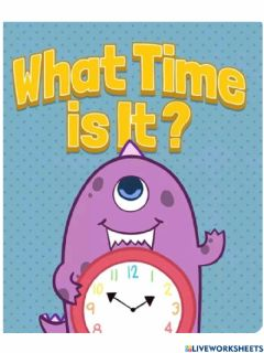 Interactive worksheet Time story