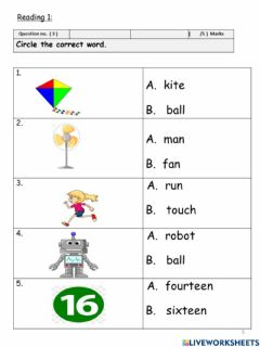 Interactive worksheet Revision 6 R