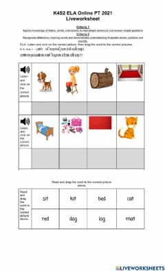 Interactive worksheet ELA PT Semester 2