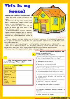 Interactive worksheet This is my house
