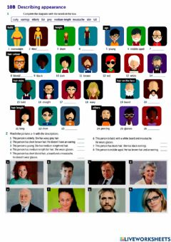 Interactive worksheet Physical appearance and comparatives