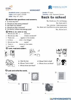 Interactive worksheet Unit 4 and 5