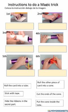 Interactive worksheet How to do a magic trick