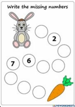 Interactive worksheet Write the missing Numbers