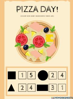 Interactive worksheet Pizza day