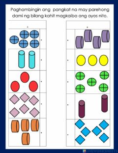 Interactive worksheet Counting objects in different arrangement