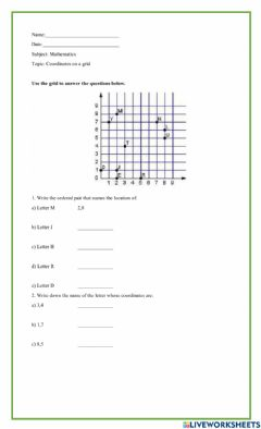 Interactive worksheet Grid