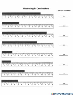 Interactive worksheet PS-00-01-Measuring Centimeters