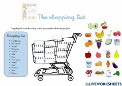 Interactive worksheet The shopping list